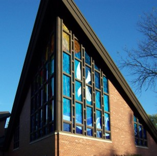 Peace Evangelical Lutheran Church | exterior stained glass windows