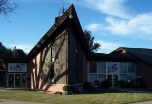 Peace Evangelical Lutheran Church | south-facing front of building